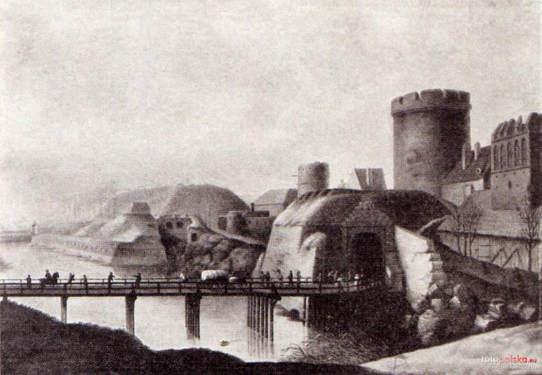 Lata 1600-1800. Panorama Wrocławia od południa