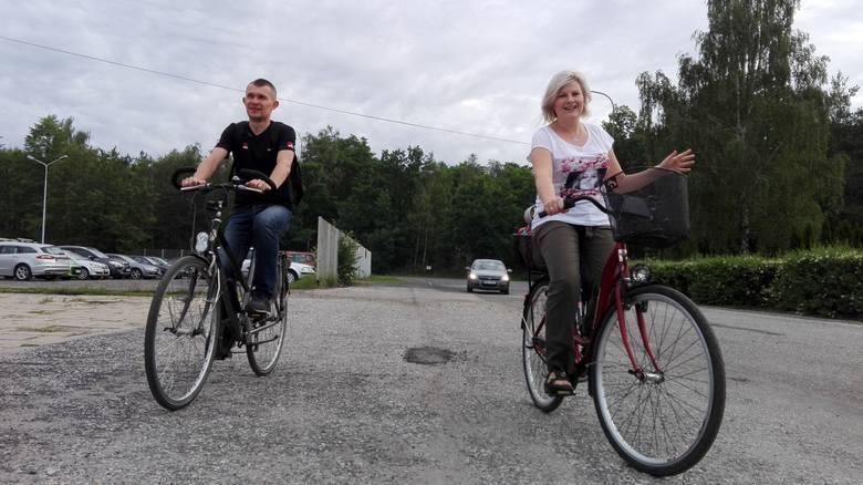 Rowerowa akcja w fabryce Oras w Oleśnie.