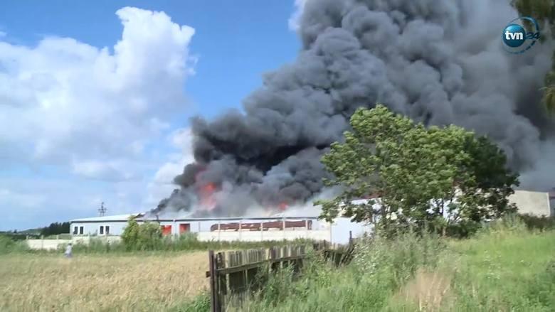 Pożar stolarni w Wysocku Małym