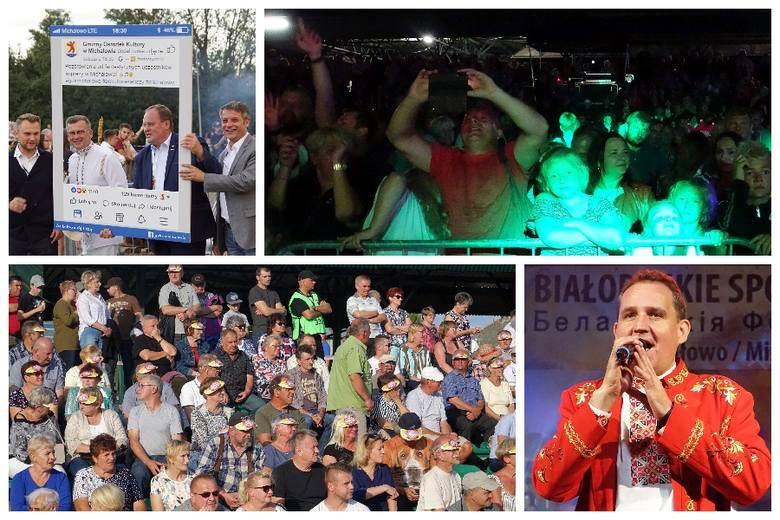 Tysiące osób bawiło się w Amfiteatrze Miejskim w Michałowie. To były Białoruskie Spotkania Folkowe z zespołem Prymaki.
