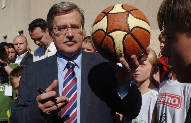 Bronisław Komorowski w Koszalinie w lipcu 2010 roku