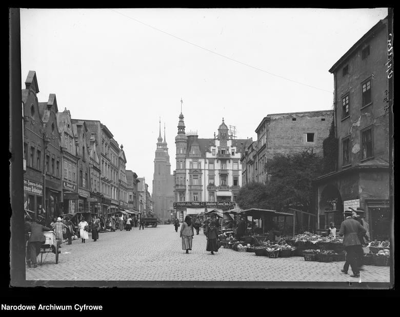 Rynek, na którym kiedyś bardzo często odbywały się targi.