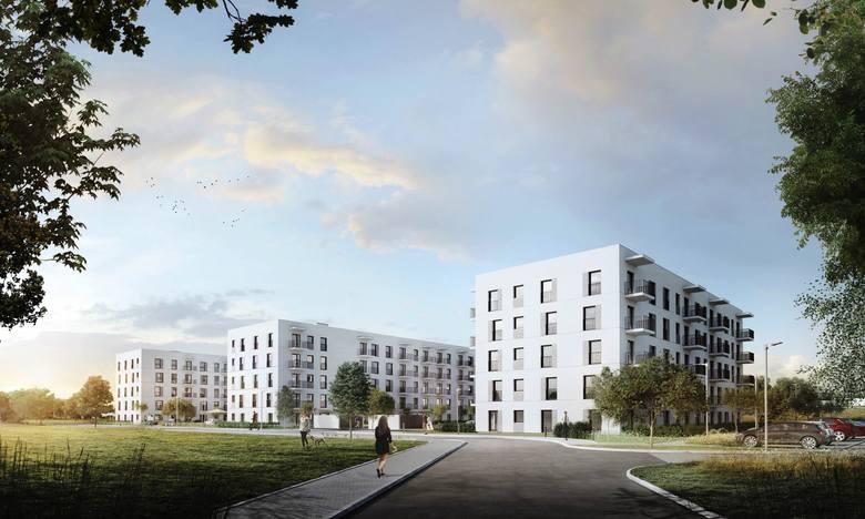 W czterech pięciokondygnacyjnych blokach znajdzie się 190 mieszkań. Osiedle zaprojektowała warszawska pracownia Atelier Tektura.