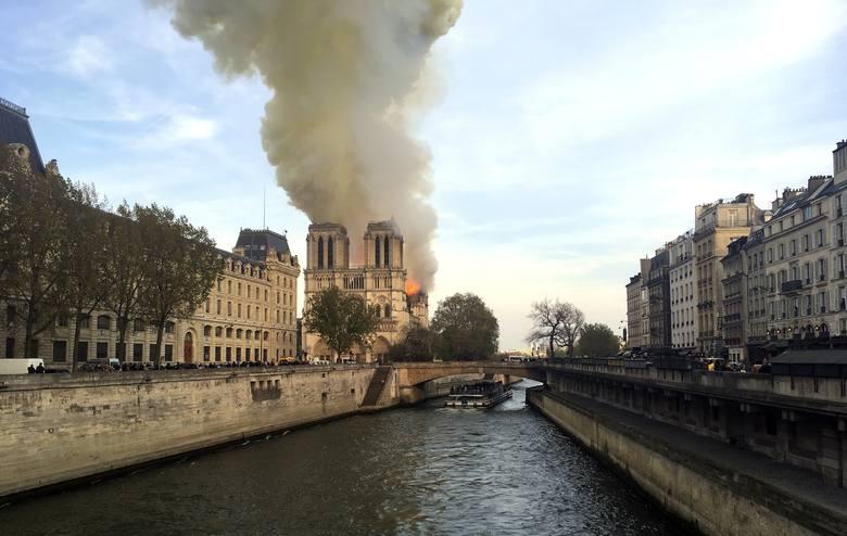 Płonie katedra Notre Dame w Paryżu