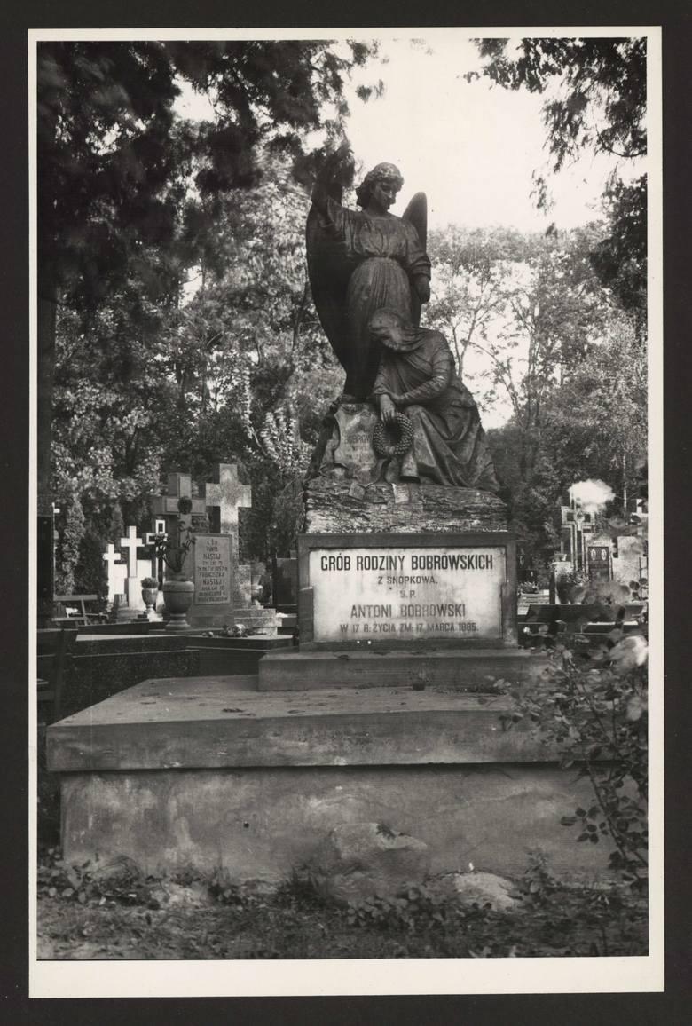 Cmentarz rzymskokatolicki przy ulicy Lipowej w Lublinie. Grób rodziny Bobrowskich- właścicieli majątku Snopków. Nagrobek wykonał Bolesław Syrewicz z