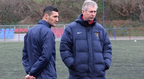 Admir Kecap z trenerem Janem Kocianem.