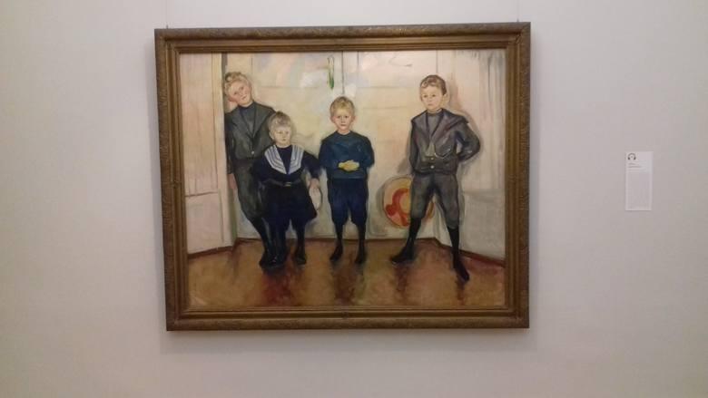 """W Muzeum Behnhaus w Lubece można podziwiać obrazy E. Muncha. Tu: """"Synowie doktora Linde"""""""