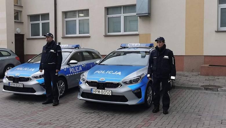 Na placu Komendy Miejskiej Policji w Białymstoku, odbyło się dziś uroczyste przekazanie nowych radiowozów policjantom jednostek podległych Komendzie