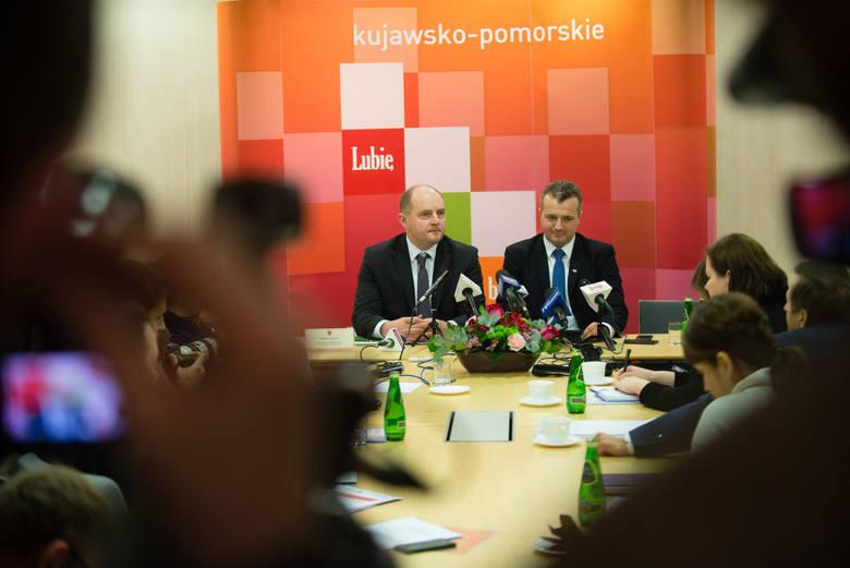 Wspólna konferencja Marszałka i Wojewody.