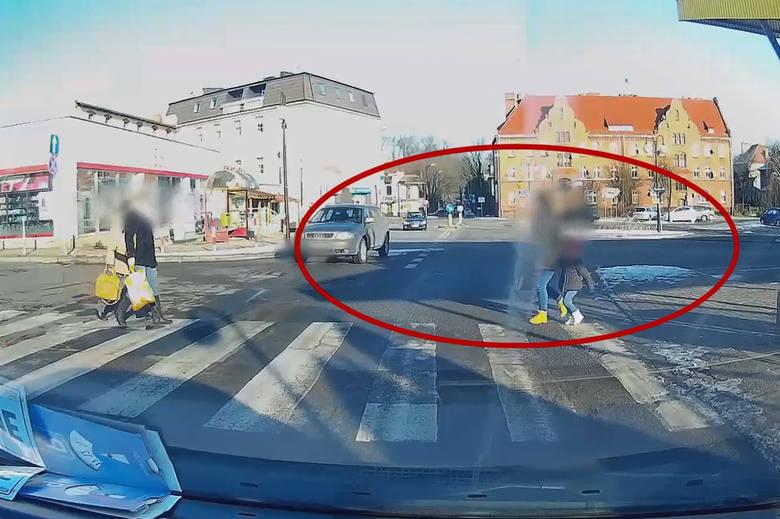 Opolski Pirat: W Kędzierzynie-Koźlu kierowca prawie przejechał matkę z dzieckiem