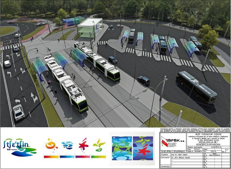 Wielkie rondo i pętla autobusowo-tramwajowa obok jeziora Głębokiego w Szczecinie. Będą szukać wykonawcy