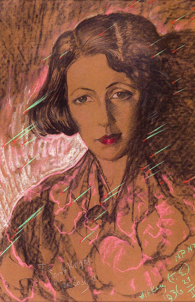 Eugenia Wyszomirska na spacerze z Witkacym w Zakopanem. Uważał, że jest bardzo podobna do jego zmarłej pierwszej narzeczonej. Ale ona nie interesowała