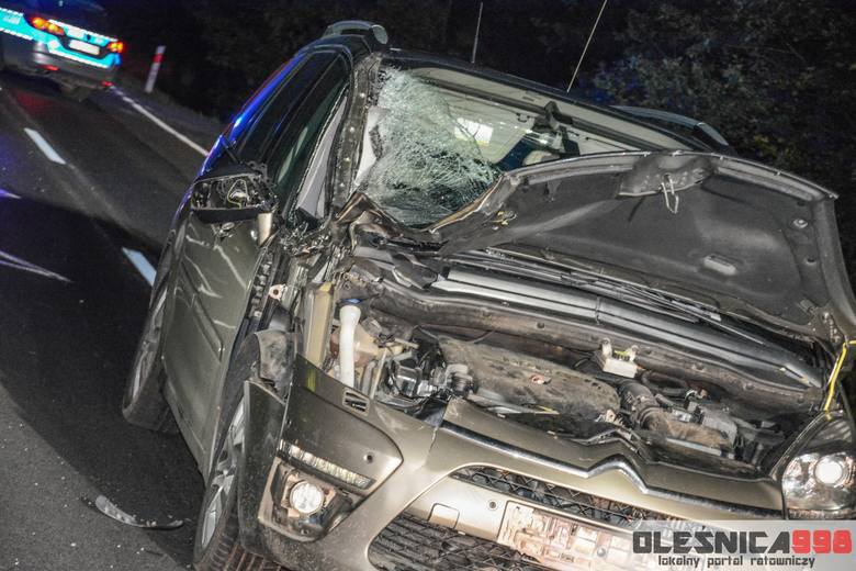 Śmiertelne potrącenie pod Oleśnicą. Zginął 26-letni mężczyzna