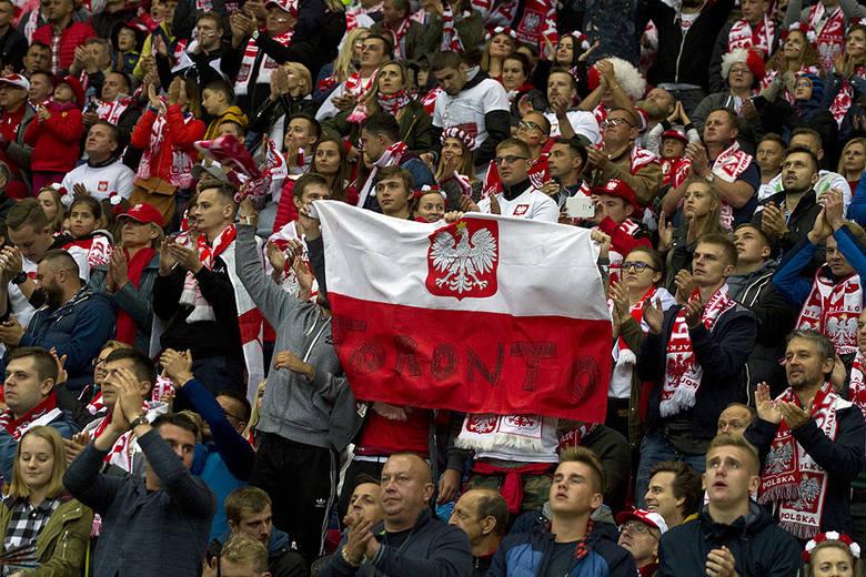 Kibice na meczu Polska - Kazachstan