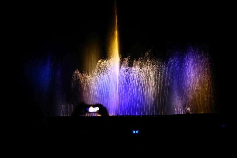 Jedną z ostatnich atrakcji był pokaz tańczących fontann