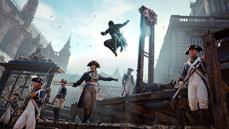 Pierwsza część serii na konsole nowej generacji, czyli PlayStation 4 i Xbox One. Trafiamy w niej do Paryża XVIII wieku, w czasach rewolucji francuskiej.