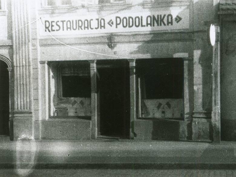 """Restauracja """"Podolanka"""" prowadzona przez Franciszka Byczyńskiego w Zielonej Górze w latach 1947 -1950"""