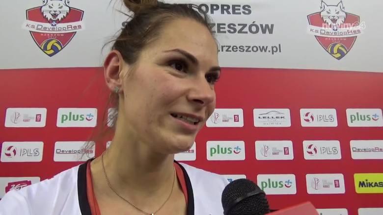 Klaudia Alagierska, Gabriela Polańska i Jelena Blagojević podzieliły się z nami swoimi opiniami po meczu Developres Rzeszów - ŁKS Łódź w Lidze Siatkówki