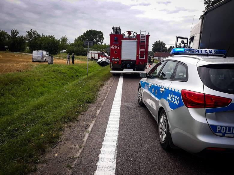 Guty. Wypadek na DK 61 Grajewo - Szczuczyn. Zderzyły się trzy auta