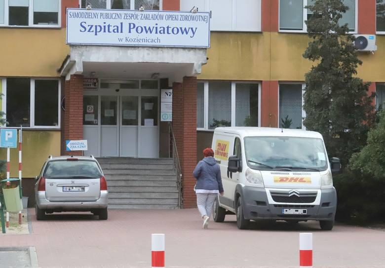 Oddział wewnętrzny szpitala w Kozienicach nadal nie przyjmuje pacjentów.