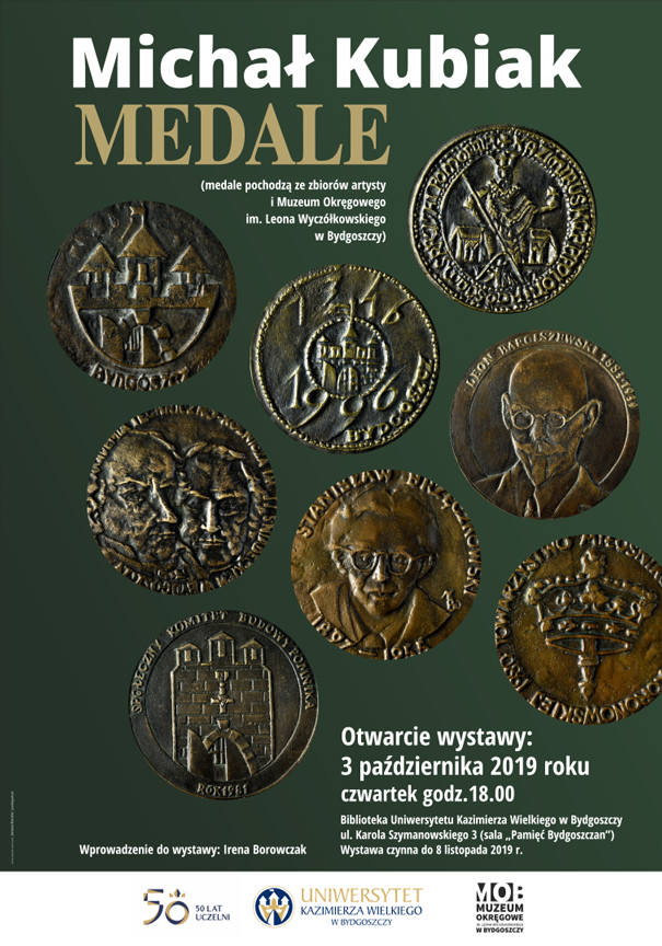 Znane budowle i ludzie na medalach rzeźbiarza Michała Kubiaka zobaczymy na wystawie w Bibliotece UKW