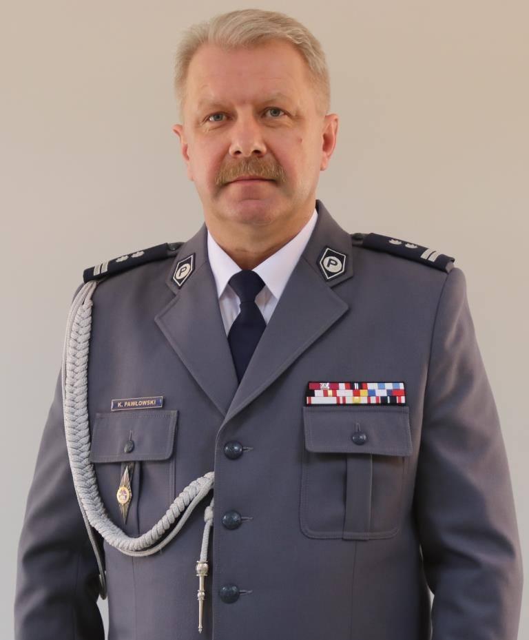 KOMENDANT POWIATOWY POLICJI  w AUGUSTOWIE  mł. insp. Krzysztof Pawłowski