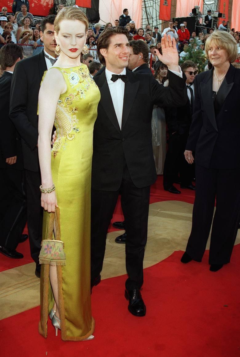 Nicole Kidman i Tom Cruise na 69. gali rozdania Oscarów w 1997 r.