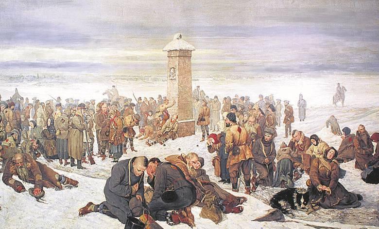 """""""Niedziela w kopalni"""", obraz Jacka Malczewskiego"""