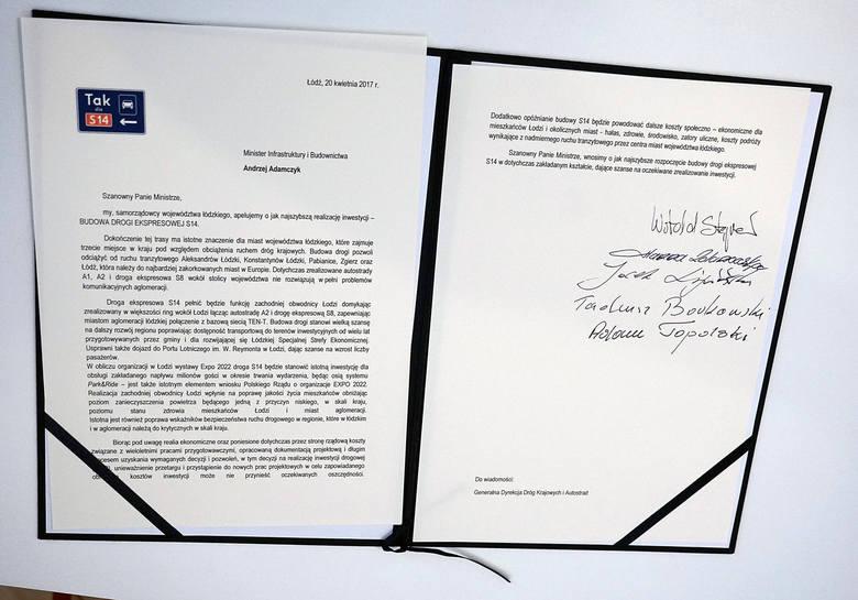 Budowa drogi S14. Podpisanie apelu do Ministra Infrastruktury i Budownictwa [ZDJĘCIA]