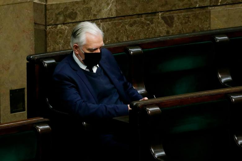 29.04.2020 Warszawa. Jarosław Gowin na posiedzeniu Sejmu