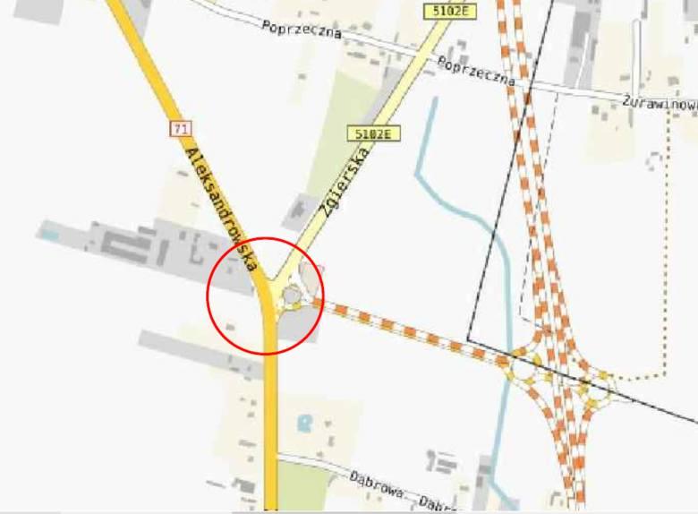 14 kwietnia rusza budowa dwóch rond na DK 71 w pobliżu Łodzi