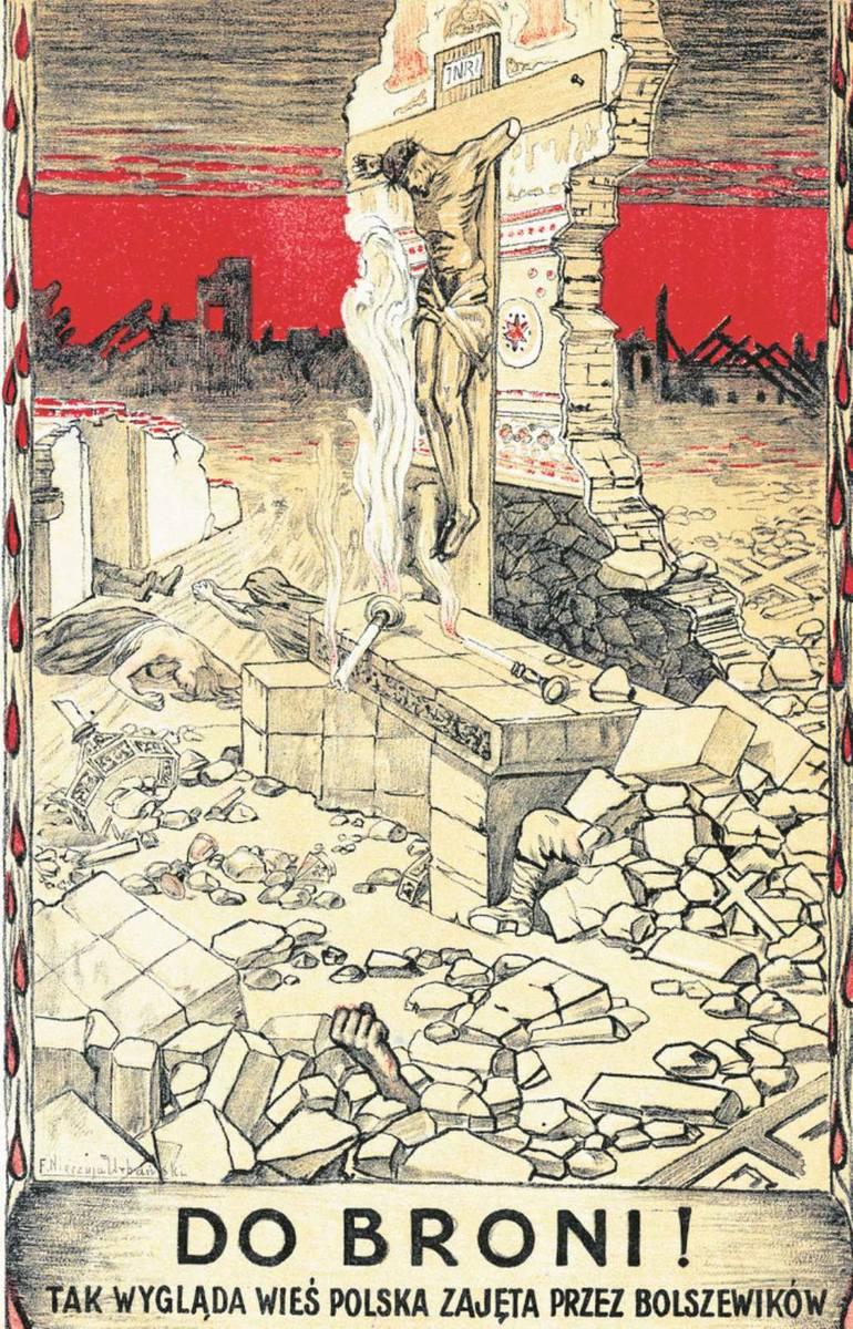 Polski druk propagandowy z okresu wojny polsko-bolszewickiej, 1920 r.