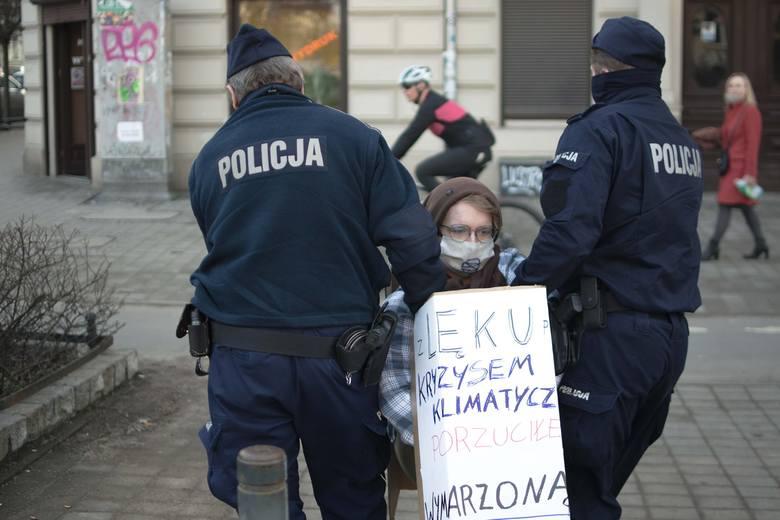 Protest ekologów we Wrocławiu.