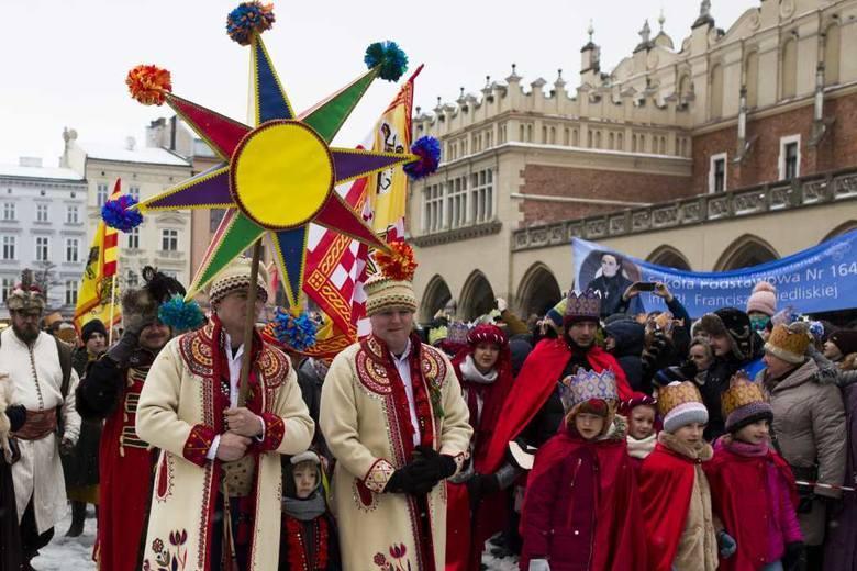 Kraków. Święto Trzech Króli 2020. Ulicami miasta przejdą trzy orszaki. Utrudnienia w ruchu