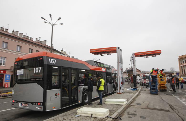 W Rzeszowie powstaje stacja szybkiego ładowania autobusów elektrycznych.