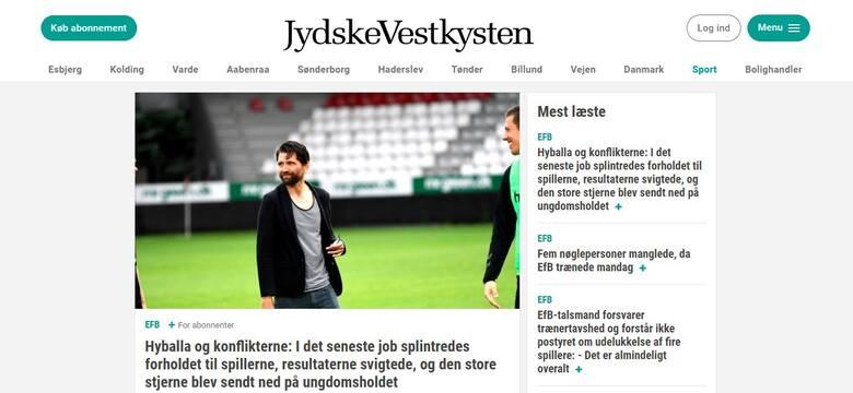 W Danii wrze. Peter Hyballa robi czystkę w drużynie. Były trener Wisły Kraków został pouczony w Esbjergu, by zmienił swoje zachowanie