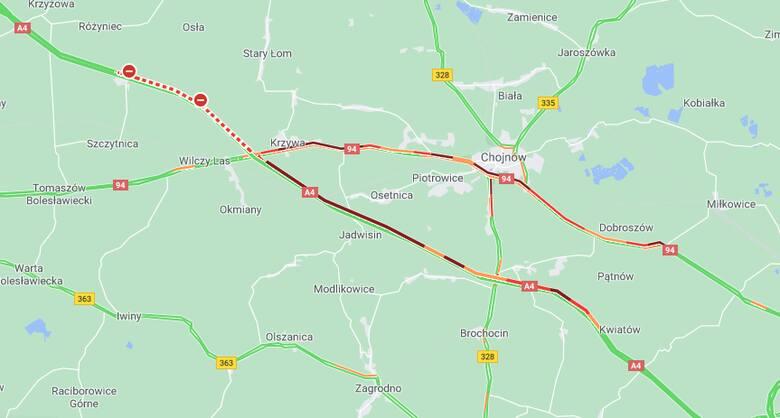Wypadek na autostradzie A4. Droga w stronę Zgorzelca całkowicie zablokowana