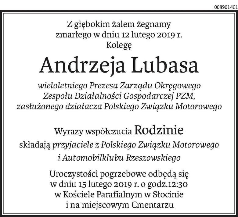 Nekrologi i kondolencje z dnia 14 lutego 2019 roku