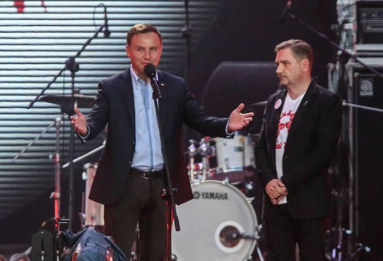 Andrzej Duda prezydent RP w trakcie Święta Solidarności