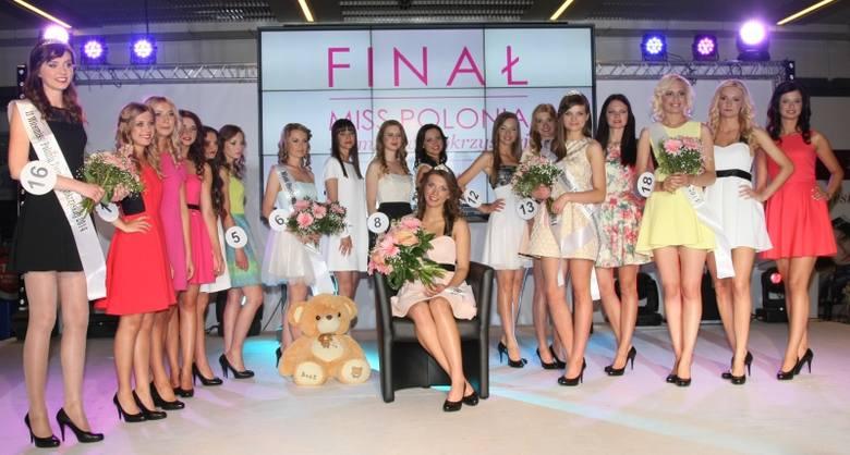 Finalistki Miss Polonia Ziemi Świętokrzyskiej 2014 wraz z nowo wybraną miss, Klaudią Dominus.