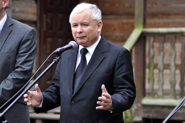 Prezes Jarosław Kaczyński, odwiedził gospodarstwo w Woli Wrzeszczowskiej na terenie gminy Przytyk.