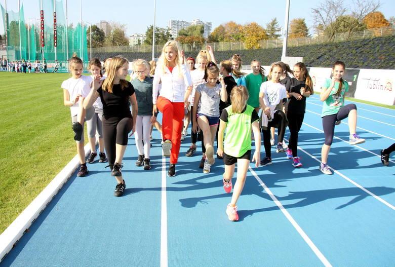 Młodzież trenowała już na nowym stadionie lekkoatletycznym w Lublinie