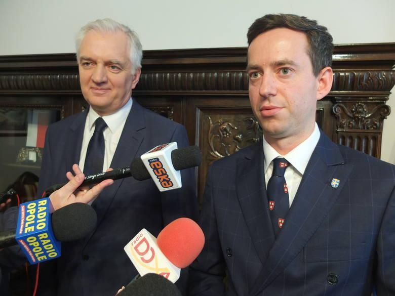 Marcin Ociepa i Jarosław Gowin, minister nauki i szkolnictwa wyższego.