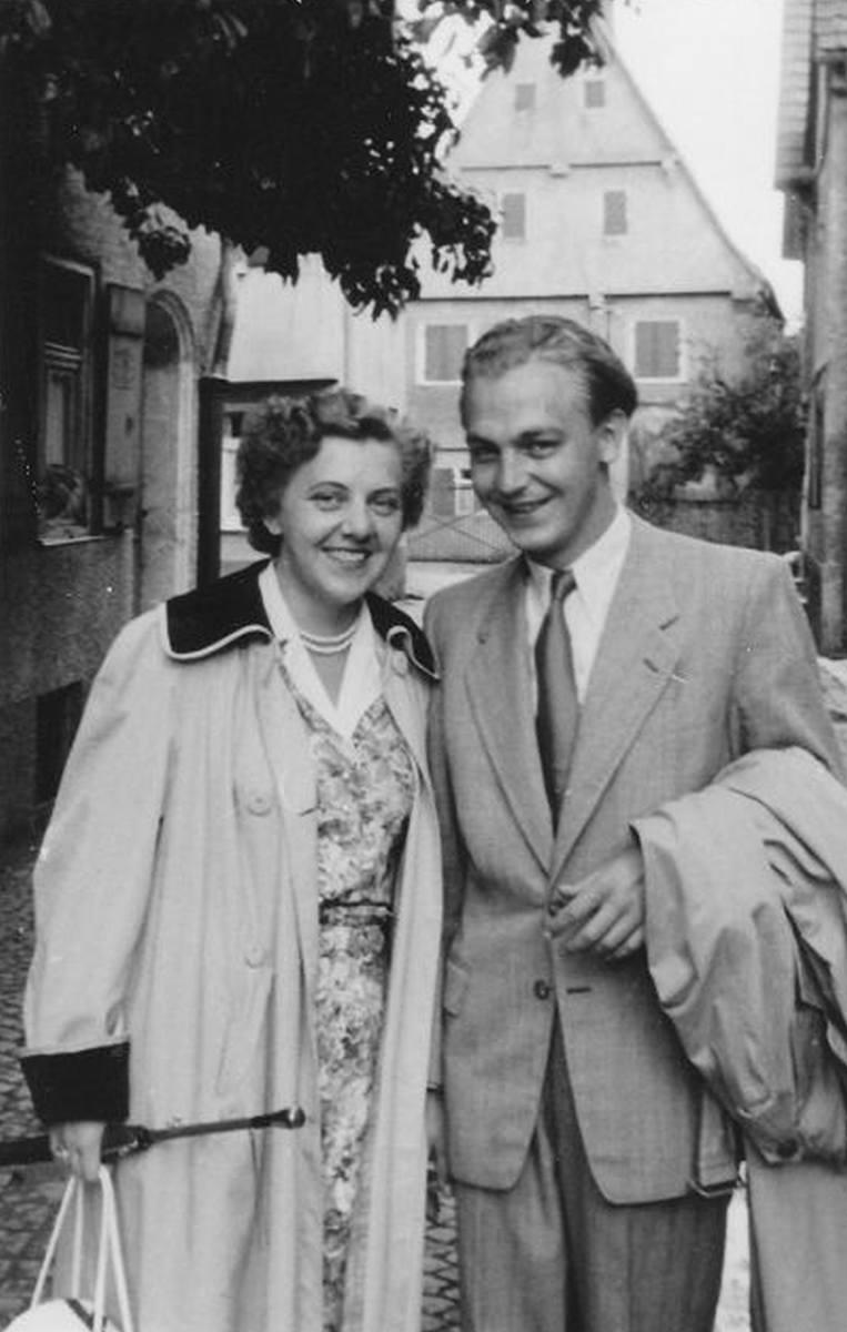 Heinz Piontek z żoną Giselą w 1952 roku.