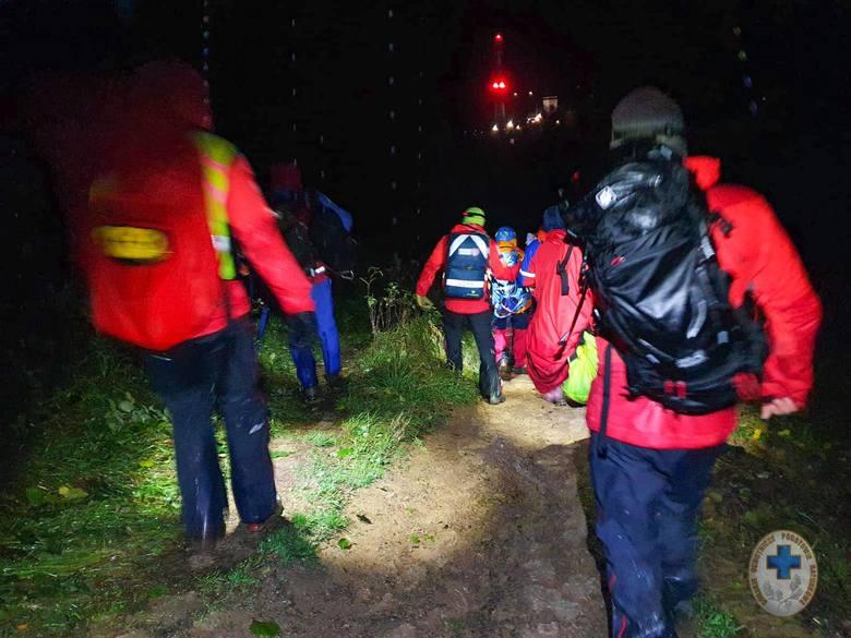 Bieszczadzcy goprowcy ratowali mężczyznę, który wybrał się na pieszą wędrówkę z Ustrzyk Górnych na Połoninę Caryńską.