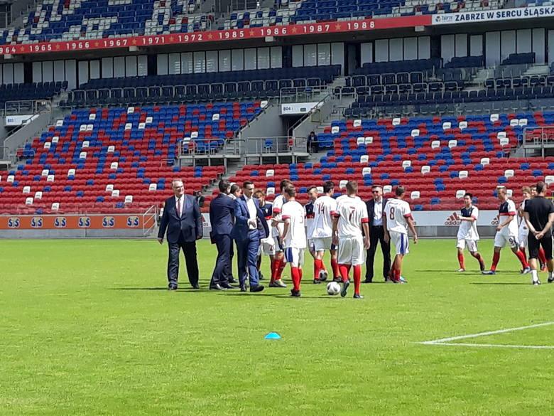 Premier Mateusz Morawiecki w Zabrzu obiecał budowę boiska treningowego