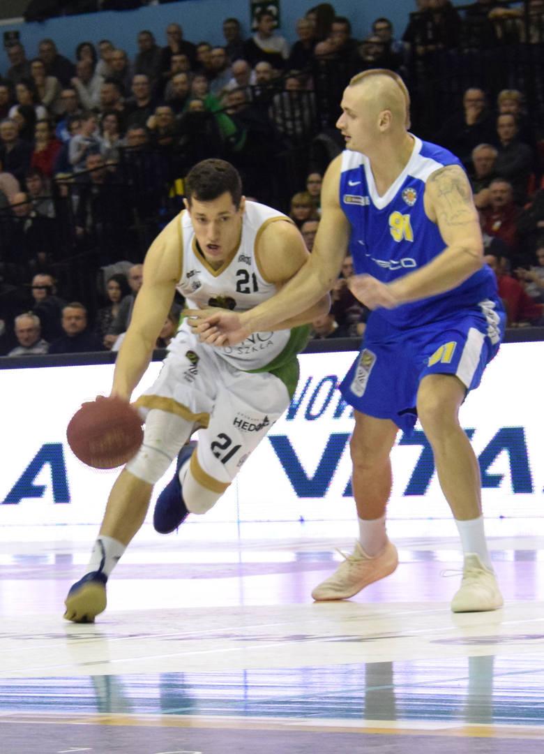 Koszykarze Miasta Szkła Krosno przegrali z Arką Gdynia 72-96 (18-31, 14-20, 24-22, 16-23)