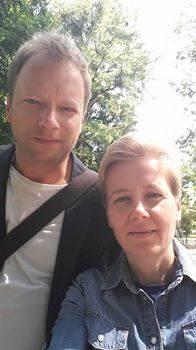Monik Jacak z Maciejem Stuhrem