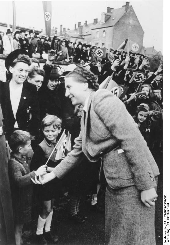 """Gertrud Scholtz-Klink była bardzo wpływową Przywódczynią Kobiet Rzeszy. Mówiono o niej """"Führer w spódnicy"""""""