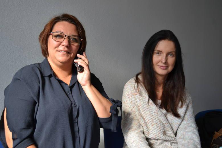 Na pytania odpowiadały (od lewej): Angelika Warmbier (UKW) i Anna Ławrynowicz (UTP)
